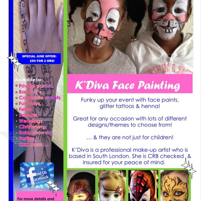 Facepainting Flyer