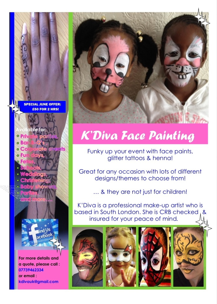 Facepainting Flyer
