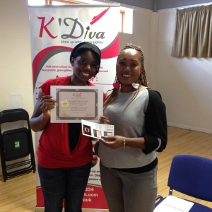 Student receiving her well deserved certificate