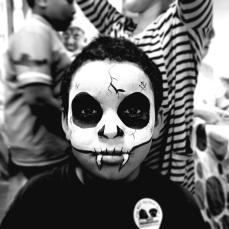 Boys Skull Facepaint