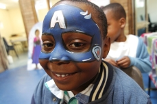 Captain America Facepaint