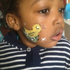 Easter Chick Facepaint