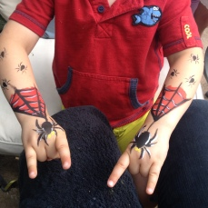 Spiderman Arm Facepaint