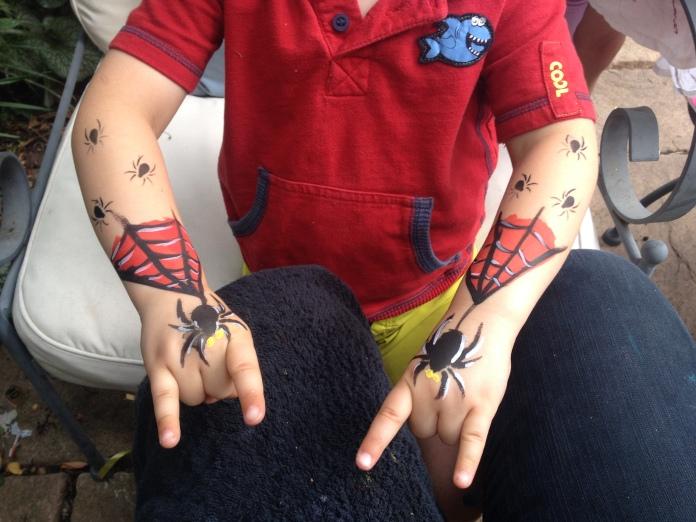 Spiderman Arm Facepaint